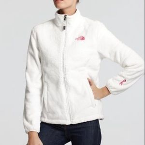 The North Face Pink Ribbon Osito White Jacket